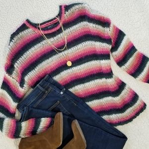 Forever 21 Alpaca Blend Striped Sweater